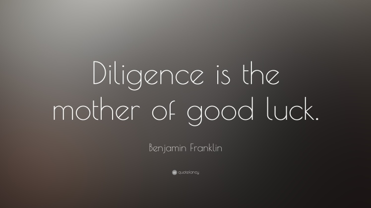 diligence-good-luck